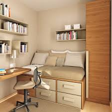 Bedroom:2017 Bedroom Brown Wooden Floating Study Table For Small Rooms  Aside Bunk Bed Storage