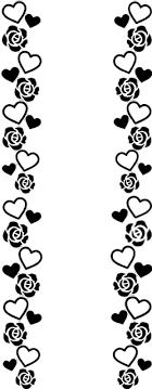 キンブレ 素材 ハート 薔薇 フレーム 背景透明80793864完全無料画像