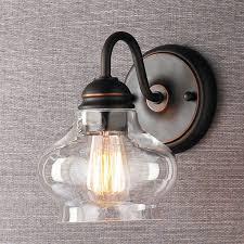 clear cloche glass sconce bathroom sconce lightinglight fixtures