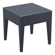 resin wickerlook outdoor side table