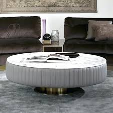 white marble coffee table white marble coffee table touched d gold brass leather marble top round
