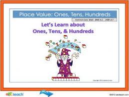 Promethean Flipchart Lesson Math Place Values Common