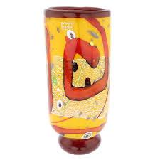 murano glass vases  modern art murano glass vase  yellow
