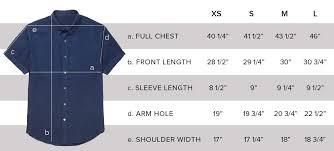 Size Chart Dress Shirt Men Size Guide Fd