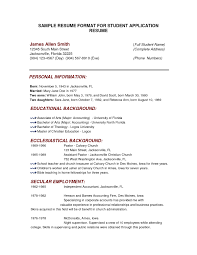 Examples Of Resumes Sample Resume Format For Fresh College