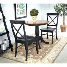 30 round table international concepts black and cherry inch pedestal table with two x back chairs 30 round table brown round pedestal
