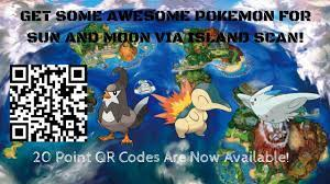 20 Point QR Codes are Now Available for Pokémon Sun and Moon! - YouTube