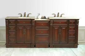 Bathroom  Archaic Dark Brown Finished Wooden Bathroom Remodel - Bathroom vanity remodel
