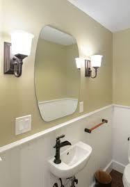 traditional half bathroom ideas. Traditional Half Bathroom Remodel, Beadboard, Wall Sconce Traditional- Ideas I
