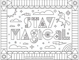 Coloring pages for kids pdf. Stay Home Color A Collection Of Free Coloring Pages To Help You Relax Dribbble Design Blog