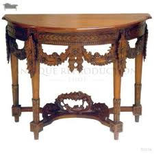antique heavy carved console wall table half round