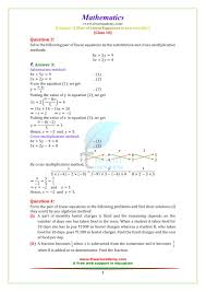 ncert solutions for class 10 maths chapter 3 exercise 3 5