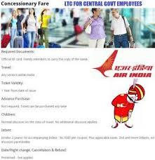 Air India Ltc 80 Ticket Booking Ltc 80 Fare Latest List
