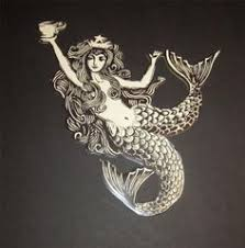 starbucks mermaid wall art
