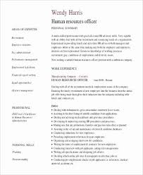 Personal Resume Examples Cool Examples Of Human Resources Resumes Lovely The Proper Personal