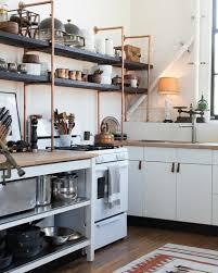 open kitchen wall shelves