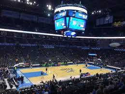 Thunder Game Seating Chart Chesapeake Energy Arena Section 108 Oklahoma City