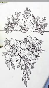 Flower Band Tattoo рисунки эскизы дизайн татуировок эскиз тату