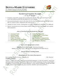 elementary teacher resume sample page 1 student teacher resume samples