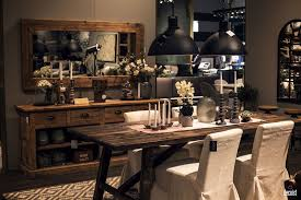 rustic dining rooms. Modern Rustic Dining Room Dark Wooden Table White Chairs Black Rooms S