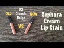 NEW <b>Sephora</b> Cream Lipstain 75 Warm Nude | 02 Classic Beige IS ...