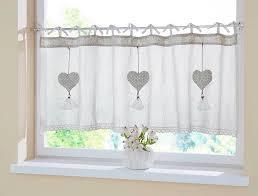 Fenstervorhang Scheibengardine Herzhänger Bistro Fenster Vorhang