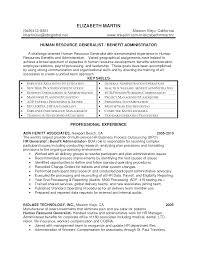 Hr Compensation Resume