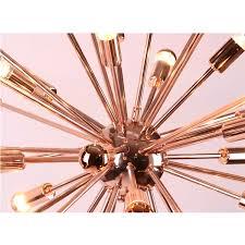 rose gold sputnik chandelier
