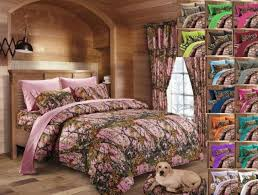 7 pc full pink camo comforter and sheet set microfiber bedding camouflage