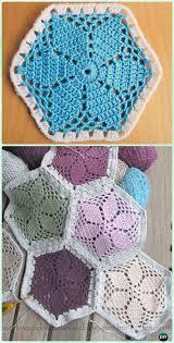 Hexagon Crochet Pattern Fascinating Crochet Hexagon Motif Free Patterns Instructions