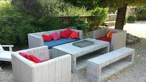 outdoor furniture from pallets. Plain Furniture Pallet Furniture For Patio Resurrected  Outdoor Cushions  To Outdoor Furniture From Pallets