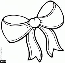 Small Picture Ribbon Bow Drawing Bow Coloring Pages Digi Stamps Pinterest