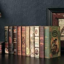 old books for decor book decor old vine fake decoration simulation room hotel cafe shelf bookshelves old books