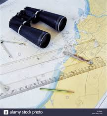 Tools For Sailing And Nautical Chart Stock Photo 18069819