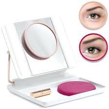 ultra bright natural daylight led makeup mirror enlarge