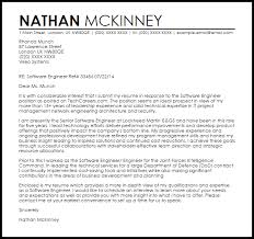 Cover Letter For Experienced Software Engineer Software Engineer Cover Letter Sample Cover Letter Templates