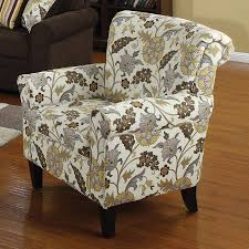 coaster fine furniture casual yellow brown fl club chair