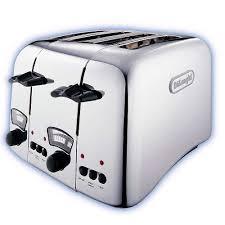 Retro Toasters delonghi argento 4 slice retro toaster chrome ct04c around the 5290 by uwakikaiketsu.us