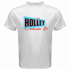 New Holley Carburetor Co Logo Speed Equipment Hot Rod White