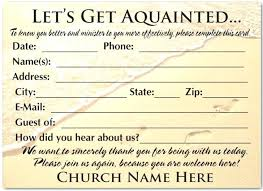 Welcome Card Templates Church Welcome Card Template Visitor Cards Templates Letter