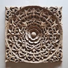 asian wood carving wall decor