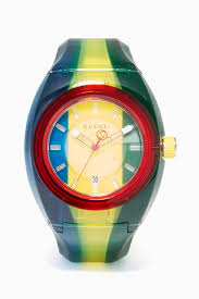Yellow Blue Green Shop Gucci Multicolour Blue Green Yellow Gucci Sync Watch