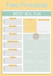 Weekly Meal Planer Free Printable Weekly Meal Planner Calendar