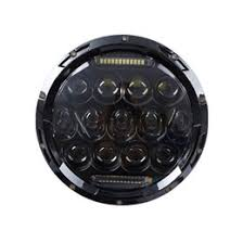 7 inch 40w h4 led headlights daymaker lamp with angle eyes round headlamp for lada 4x4 urban niva land rover 90 110 defender