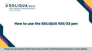 Soliqua Dosing Chart How To Use The Soliqua 100 33 Pen