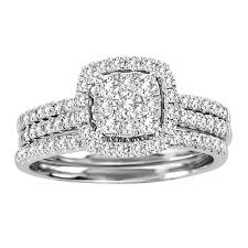 Princess Cut Diamond Engagement Ring And Wedding Band Set 1 Carat