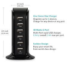Aduro 6 Port Usb Charger Blinking Light Amazon Com Lottogo Wall Charger 40w 6 Port Desktop Usb