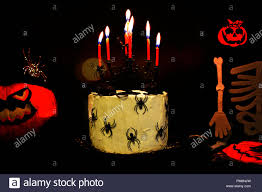 Happy Halloween Kuchen Feiern Mit Spinnen Und Rot