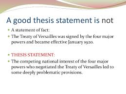 writing a good thesis statement 11 a good thesis