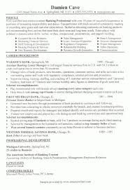 Bank Branch Manager Resume Example Banking Resume Samples With